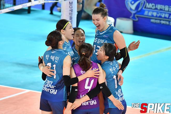 [포토화보] GS칼텍스, 한국도로공사에 3-2 승리