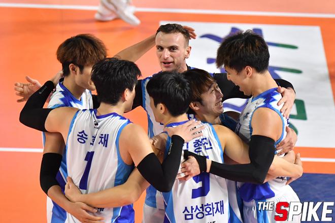 [포토화보] 삼성화재, 한국전력에 3-0 승리