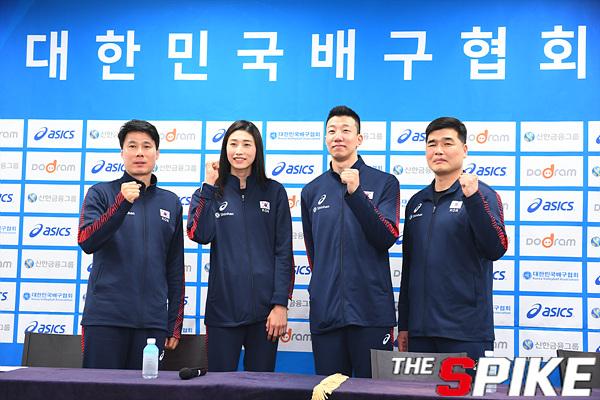 [포토화보]  2020 도쿄올림픽 아시아 최종예선 기자회견,남.녀 배구대표팀